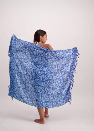 Blue Floral Sarong