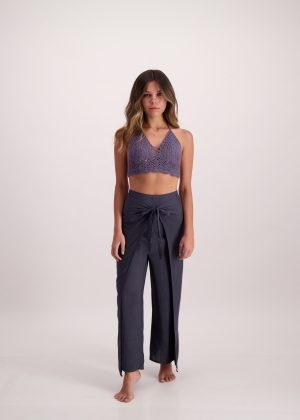 Charcoal Wrap Pants