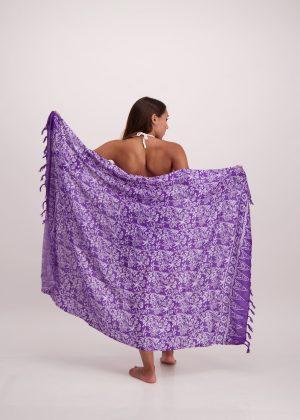 Purple Floral Sarong