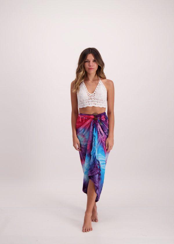 Magenta Tie Dye Sarong